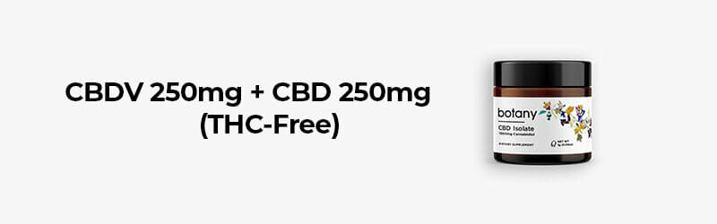 CBDV 250mg + CBD 250mg Oil - THC-Free. Hemp products buy online.